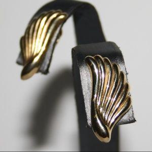 Vintage gold winged earrings